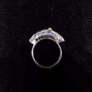 Silver logo ring