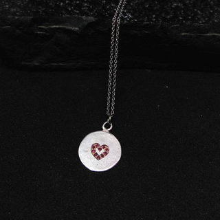 Ruby Heart Necklace