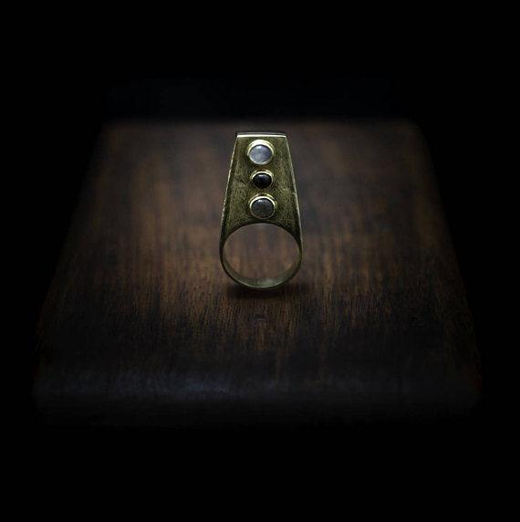 Three Quartz Ring