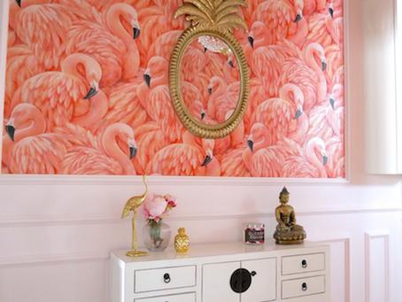 Schmalen Flur einrichten - Flamingo Traum