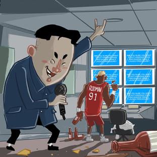 Kim Jong Ill and Dennis Rodman