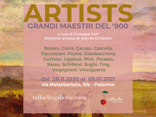 """ARTISTS"" collettiva di grandi maestri del '900"