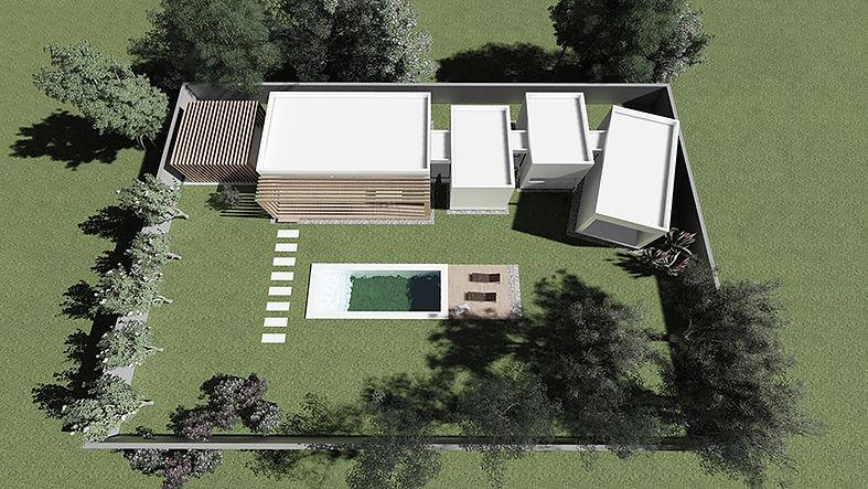 La Casa Que Crece con piscina