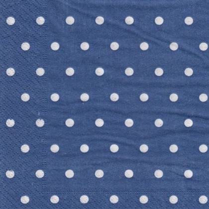 מפיות מנוקדות צבע כחול 50 יח'