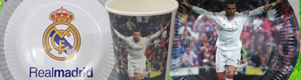 יום הולדת ריאל מדריד מושלמת! אצלנו תמצאו צלחות ריאל מדריד, כוסות ריאל מדריד, מפיות ריאל מדריד, מפת שולחן ריאל מדריד ועוד המון דברים שווים!