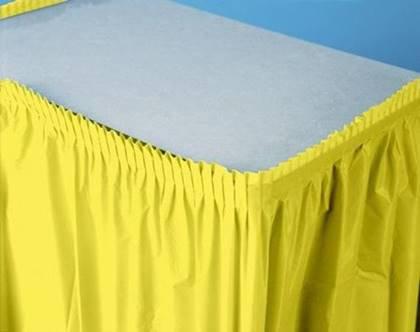 חצאית שולחן צהובה