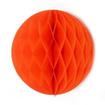 """כדור נייר 30 ס""""מ צבע כתום"""