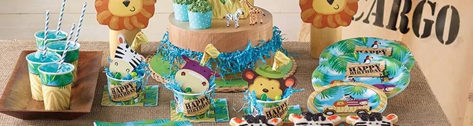 יום הולדת ספארי מושלמת! אצלנו תמצאו צלחות ספארי, כוסות ספארי, מפיות ספארי, מפת שולחן ספארי ועוד המון דברים שווים!