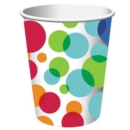 כוסות צבעי הקשת 8 יח'