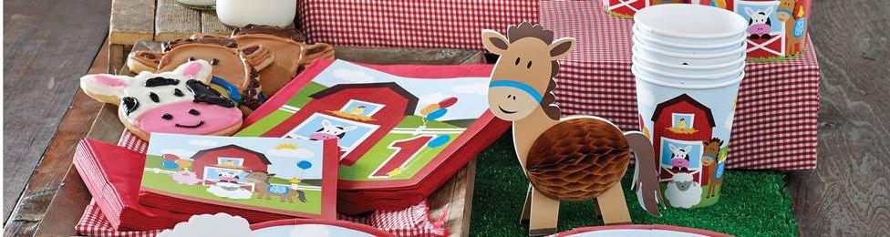 יום הולדת חוות החיות מושלמת! אצלנו תמצאו צלחות חוות החיות, כוסות חוות החיות, מפיות חוות החיות, מפת שולחן חוות החיות ועוד המון דברים שווים!