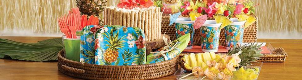 יום הולדת הוואי מושלמת! אצלנו תמצאו צלחות הוואי, כוסות הוואי, מפיות הוואי, מפת שולחן הוואי ועוד המון דברים שווים!