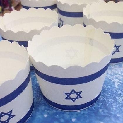 כוסות אפייה יום העצמאות 50 יח'