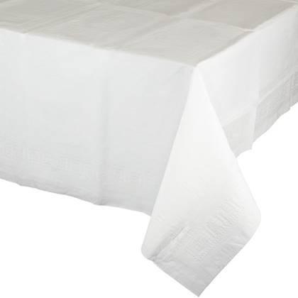 מפת שולחן איכותית בצבע לבן