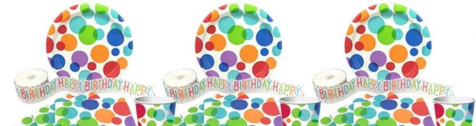 יום הולדת צבעי הקשת מושלמת! אצלנו תמצאו צלחות צבעי הקשת, כוסות צבעי הקשת, מפיות צבעי הקשת, מפת שולחן צבעי הקשת, אביזרים לימי הולדת, ציוד לימי הולדת