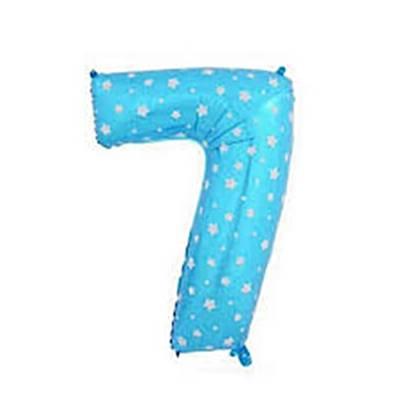 בלון מיילר ספרה 7 צבע כחול
