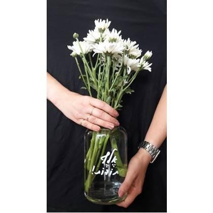 ואזה לפרחים עם הדפס אלף תודות