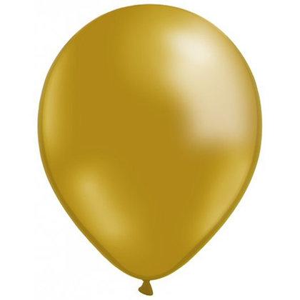 10 בלוני פסטל זהב