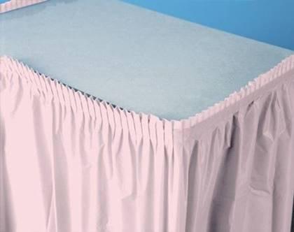 חצאית שולחן ורודה