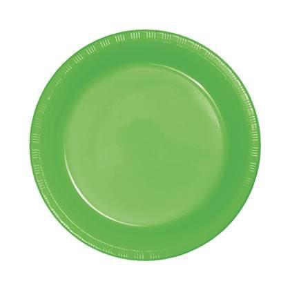 צלחות עוגה קטנות חד פעמיות צבע ירוק בהיר 24 יח'