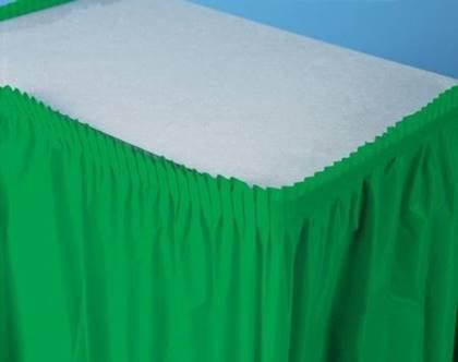 חצאית שולחן ירוקה
