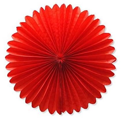 """מניפת נייר 35 ס""""מ צבע אדום"""