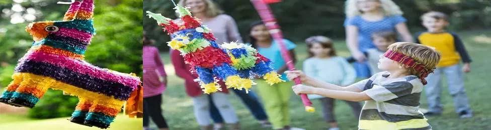 פיניאטה - עשוייה עיסת נייר, מכניסים לתוכה הפתעות וממתקים. הילדים חובטים עם מקל או מושכים בחוטים, הפיניאטה מתפרקת והחגיגה מתחילה. הפעלה מושלמת ליום ההולדת