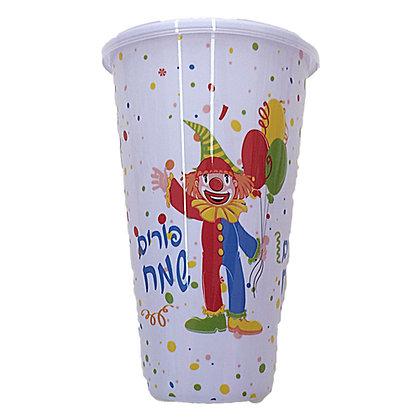 כוס גדולה פורים שמח