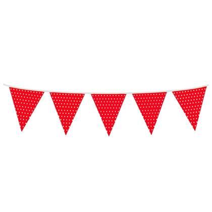 שרשרת דגלים 6 מטר אדום נקודות