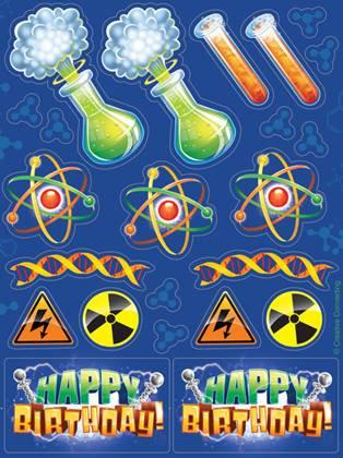 מדבקות המדען המטורף