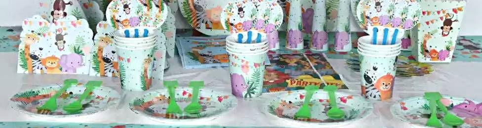 יום הולדת חיות בספארי מושלמת! אצלנו תמצאו צלחות חיות בספארי, כוסות חיות בספארי, מפיות חיות בספארי, מפת שולחן חיות בספארי ועוד המון דברים שווים!