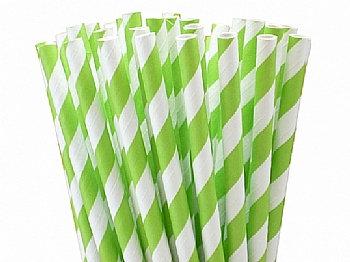 קשים מנייר דגם ירוק פסים 25 יח'