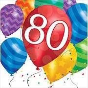 יום הולדת 80 מושלמת! אצלנו תמצאו צלחות יום הולדת 80, כוסות יום הולדת 80, מפיות יום הולדת 80, מפת שולחן יום הולדת 80 ועוד המון דברים שווים!