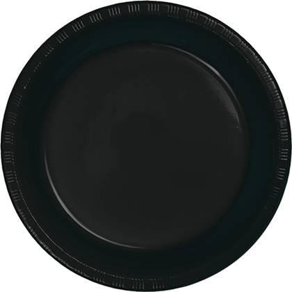 צלחות נייר גדולות חד פעמיות צבע שחור 20 יח'