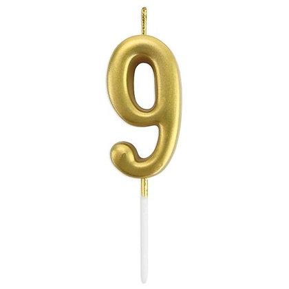 נר מספר 9 זהב