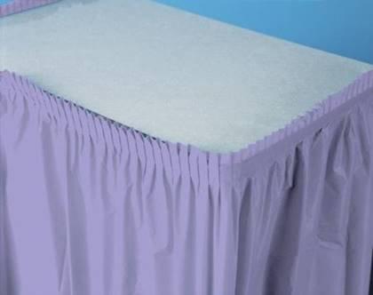 חצאית שולחן סגולה