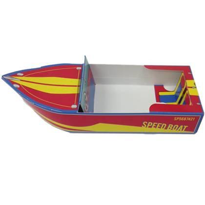 סירות תלת מימד להגשה צבע אדום צהוב 6 יח'
