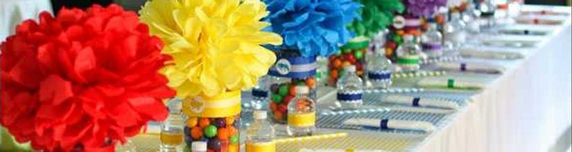 """מרכזי שולחן במגוון צבעים למסיבה מושלמת! אצלנו תמצאו מפות שולחן, חצאיות שולחן, מפיות, סכו""""ם, מרכזי שולחן, קשיות מעוצבות  ועוד המון דברים שווים!"""