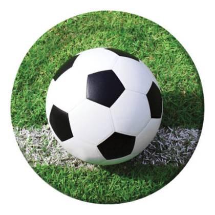צלחות גדולות כדורגל בדשא 8 יח'