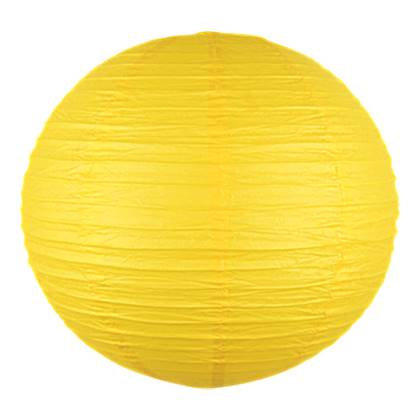 """אהיל נייר קוטר 30 ס""""מ צבע צהוב"""