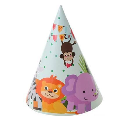 כובעי מסיבה חיות בספארי 6 יח'