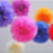 פונפוני משי במגוון צבעים למסיבה מושלמת! אצלנו   שרשראות וגרלנדות, בלונים לפי צבע, בלוני מספר תמצאו אהילי נייר, מניפות נייר, כדורי נייר, פונפוני משי, ועוד המון דברים שווים!