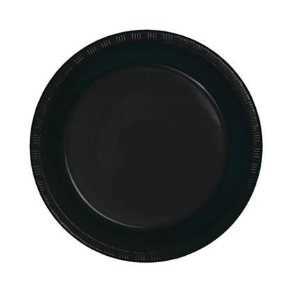 צלחות עוגה קטנות חד פעמיות צבע שחור 24 יח'