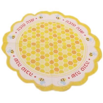 מפיות שנה טובה עגולות דגם דבורים 20 יח'