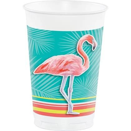כוסות גדולות פלמינגו 8 יח'