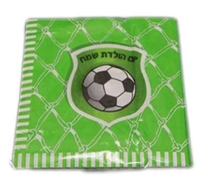 מפיות כדורגל צבע ירוק 20 יח'