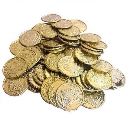 מטבעות זהב אוצר 100 יח'
