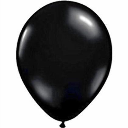10 בלוני פסטל שחור