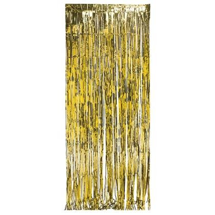 וילון פרנזים צבע זהב