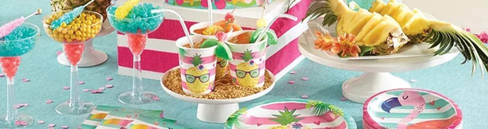 יום הולדת טרופי מושלמת! אצלנו תמצאו צלחות טרופי, כוסות טרופי, מפיות טרופי, מפת שולחן טרופי ועוד המון דברים שווים!