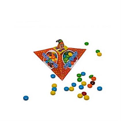 משולש פי וי סי קטן למשלוח מנות במגוון צבעים 10 יח'